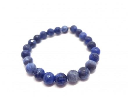 SODALITE FACETTE 8 MM