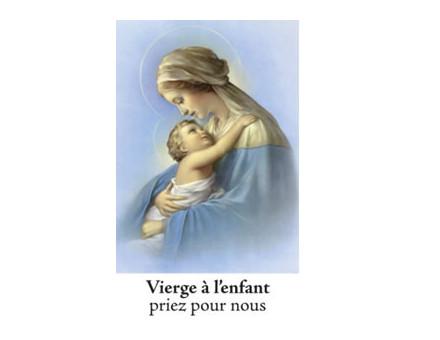 NEUVAINE LES VIERGES VIERGE A L ENFANT